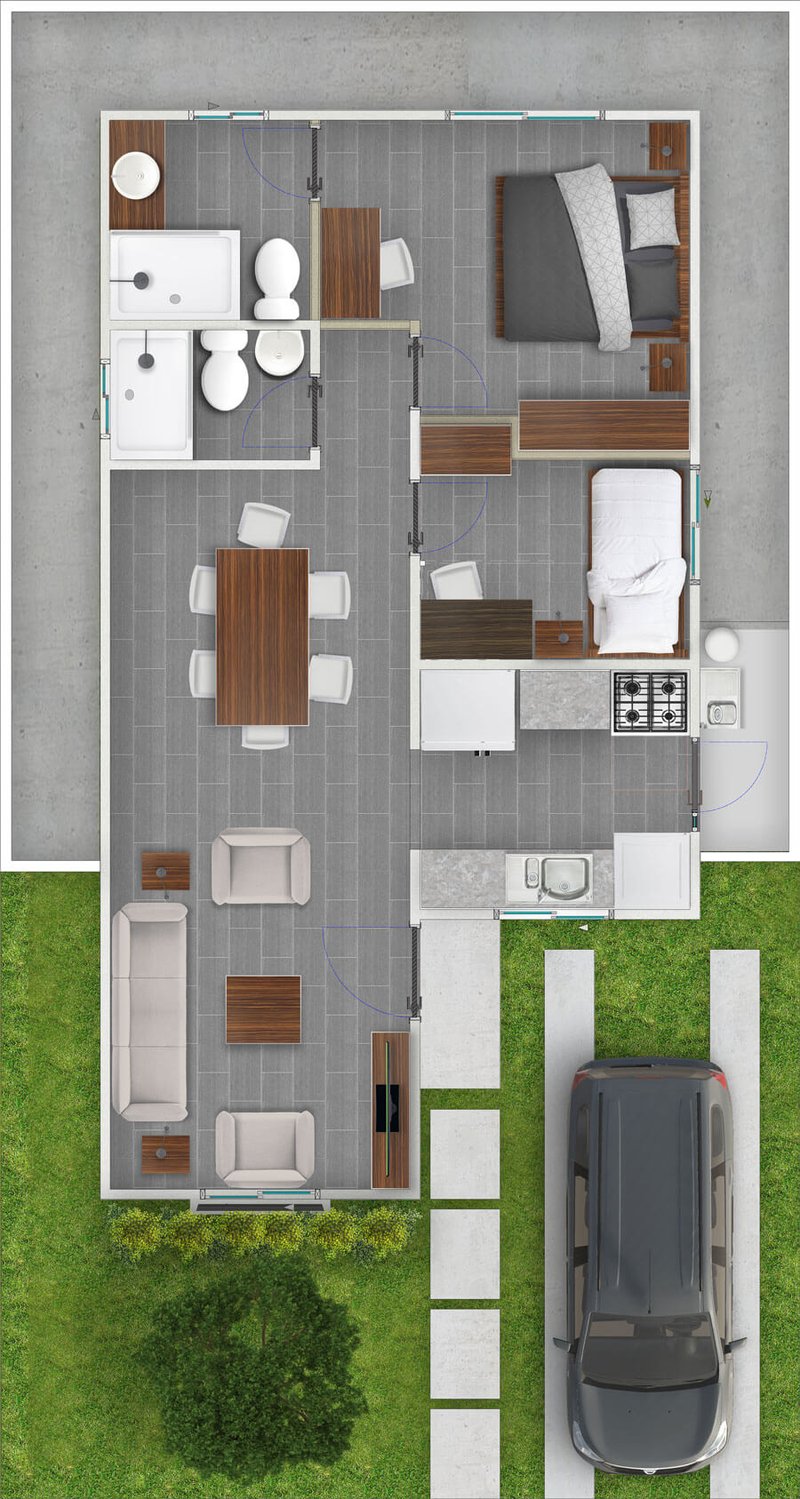 galilea-inmobiliaria-constructora-ecuador-render-interior-casa-modelo-azalea-58-m2-tipo-2