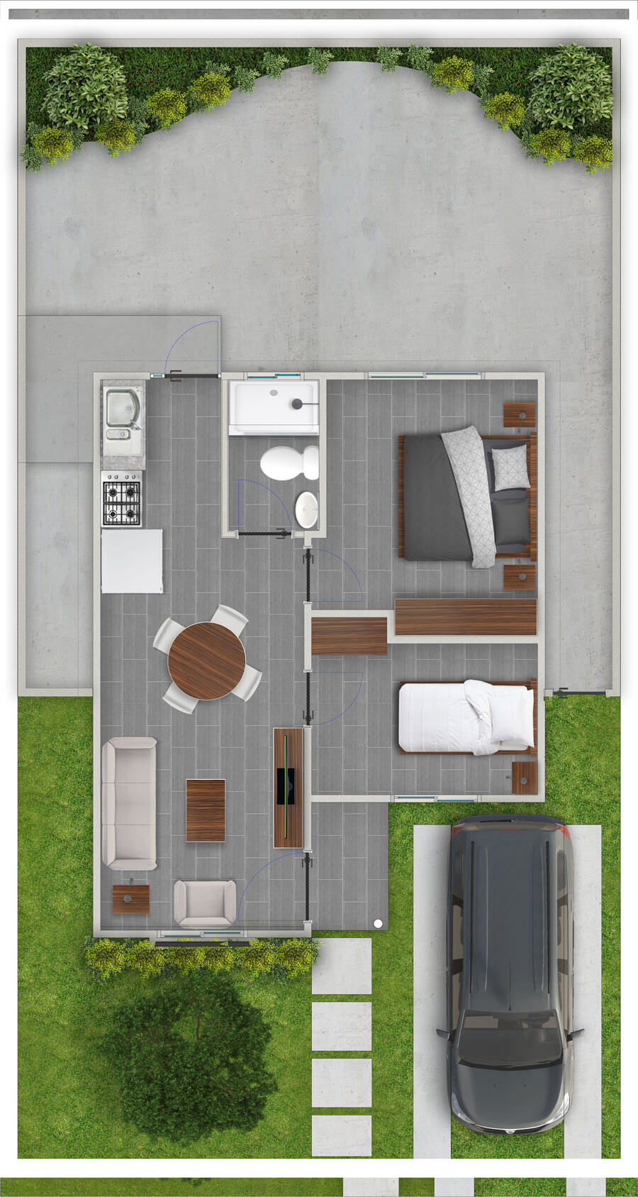 galilea-inmobiliaria-constructora-ecuador-render-interior-casa-modelo-margarita-40-m2